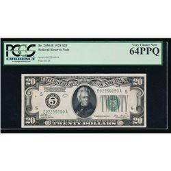 1928 $20 Richmond Federal Reserve Note PCGS 64PPQ