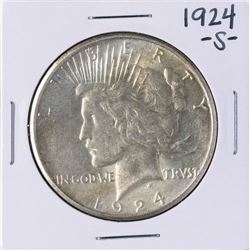1924-S $1 Peace Silver Dollar Coin