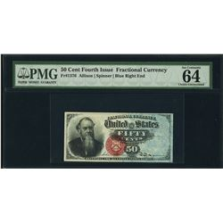 50 Cent Fourth Issue Fractional Note PMG 64EPQ