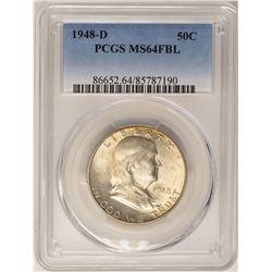 1948-D Franklin Half Dollar Coin PCGS MS64FBL