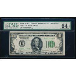 1928A $100 Cleveland Federal Reserve Note PMG 64EPQ