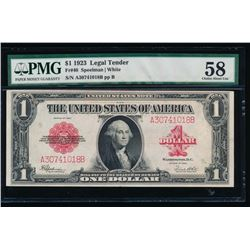 1923 $1 Legal Tender Note PMG 58