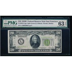 1928B $20 San Francisco Federal Reserve Note PMG 63EPQ