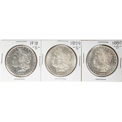 Lot of 1878-S to 1880-S $1 Morgan Silver Dollar Coins