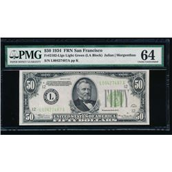 1934 $50 San Francisco Federal Reserve Note PMG 64