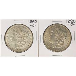 Lot of (2) 1880-O $1 Morgan Silver Dollar Coins