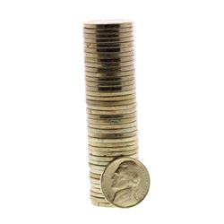 Roll of (40) Brilliant Uncirculated 1945-D Jefferson Nickel Coins