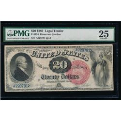 1880 $20 Legal Tender Note PMG 25
