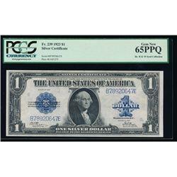 1923 $1 Silver Certificate PCGS 65PPQ
