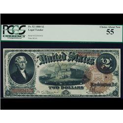 1880 $2 Legal Tender Note PCGS 55
