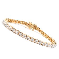 Plated 18KT Yellow Gold 0.32ctw Diamond Bracelet