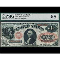 1878 $1 Legal Tender Note PMG 58