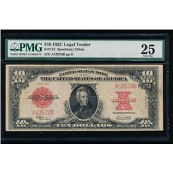 1923 $10 Legal Tender Note PMG 25