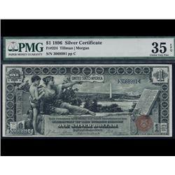 1896 $1 Educational Silver Certificate PMG 35EPQ