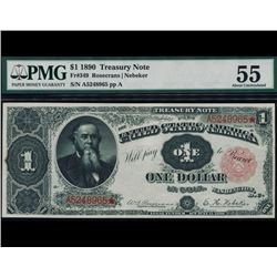 1890 $1 Treasury Note PMG 55