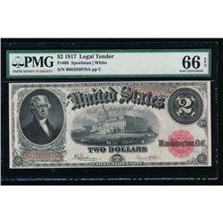 1917 $2 Legal Tender Note PMG 66EPQ