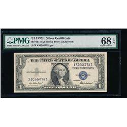 1935F $1 Silver Certificate PMG 68EPQ