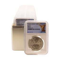Lot of (20) 1984Mo Mexico 1 Onza Libertad Silver Coins NGC MS65