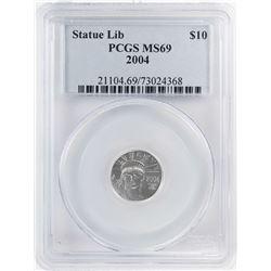 2004 $10 Platinum American Eagle Coin PCGS MS69