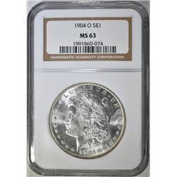1904-O MORGAN DOLLAR, NGC MS-63