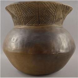IROQUOIS INDIAN POTTERY JAR (MICHAEL ARTHUR JONES)