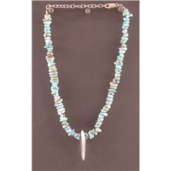 WESTERN TURQUOISE NUGGET NECKLACE