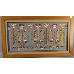 NAVAJO INDIAN SAND PAINTING
