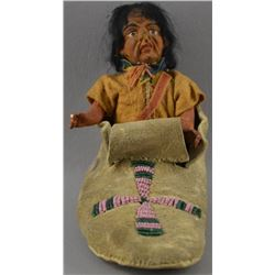 PLAINS INDIAN MOCCASIN AND DOLL