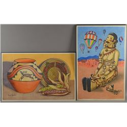 SANTO DOMINGO INDIAN PAINTINGS (HENERY AGUILAR)