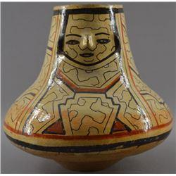 SHIPIBO  POTTERY FACE JAR