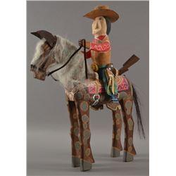 NAVAJO INDIAN FOLK ART HORSE AND RIDER