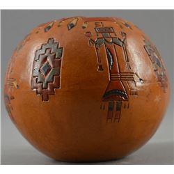 NAVAJO INDIAN POTTERY JAR (LORRAINE WILLIAMS)