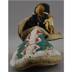 PLAINS INDIAN SINGLE MOCCASIN AND DOLL