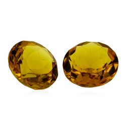 8.48 ctw.Natural Round Cut Citrine Quartz Parcel of Two