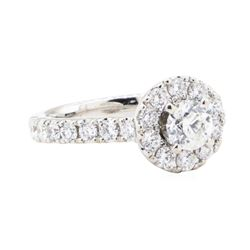 1.25 ctw Diamond Wedding Ring - 14KT White Gold