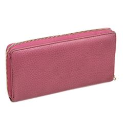 Gucci Pink Leather Soho Zip GG Wallet