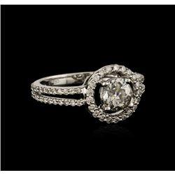 18KT White Gold 1.17 ctw Diamond Ring