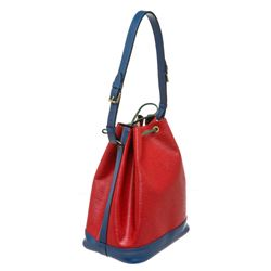Louis Vuitton Red Blue Epi Leather Noe GM Drawstring Shoulder Bag