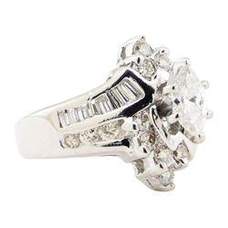 1.45 ctw Diamond Ring - 14KT White Gold