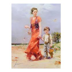 A Day at the Beach by Pino (1939-2010)
