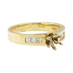 0.30 ctw Diamond Semi-Mount Ring - 14KT Yellow Gold