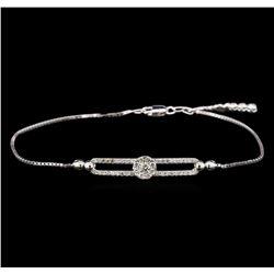 0.67 ctw Diamond Bracelet - 14KT White Gold