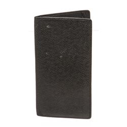 Louis Vuitton Black Taiga Leather Portefeuille Ron Long Wallet