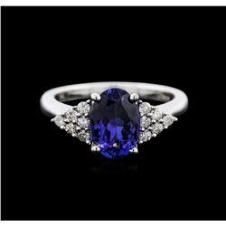 14KT White Gold 2.26 ctw Tanzanite and Diamond Ring