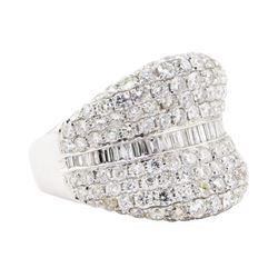 3.72 ctw Diamond Ring - 18KT White Gold