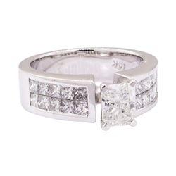 2.23 ctw Diamond Ring - 14KT White Gold