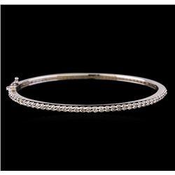 14KT White Gold 1.32 ctw Diamond Bangle Bracelet