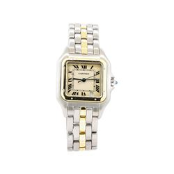 Cartier Panthere Man's Wrist Watch  - Stainless Steel and 18KT Yellow Gold