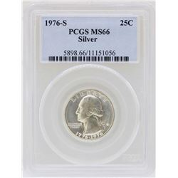 1976-S Washington Quarter Silver Coin PCGS MS66