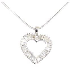 1.00 ctw Diamond Pendant And Chain - 14KT White Gold